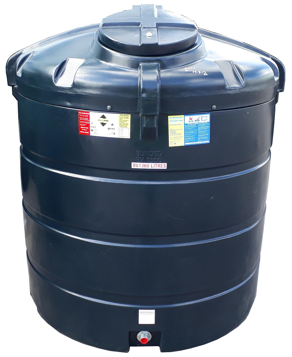 Bunded 1360 Litre Vertical Oil Tank Image