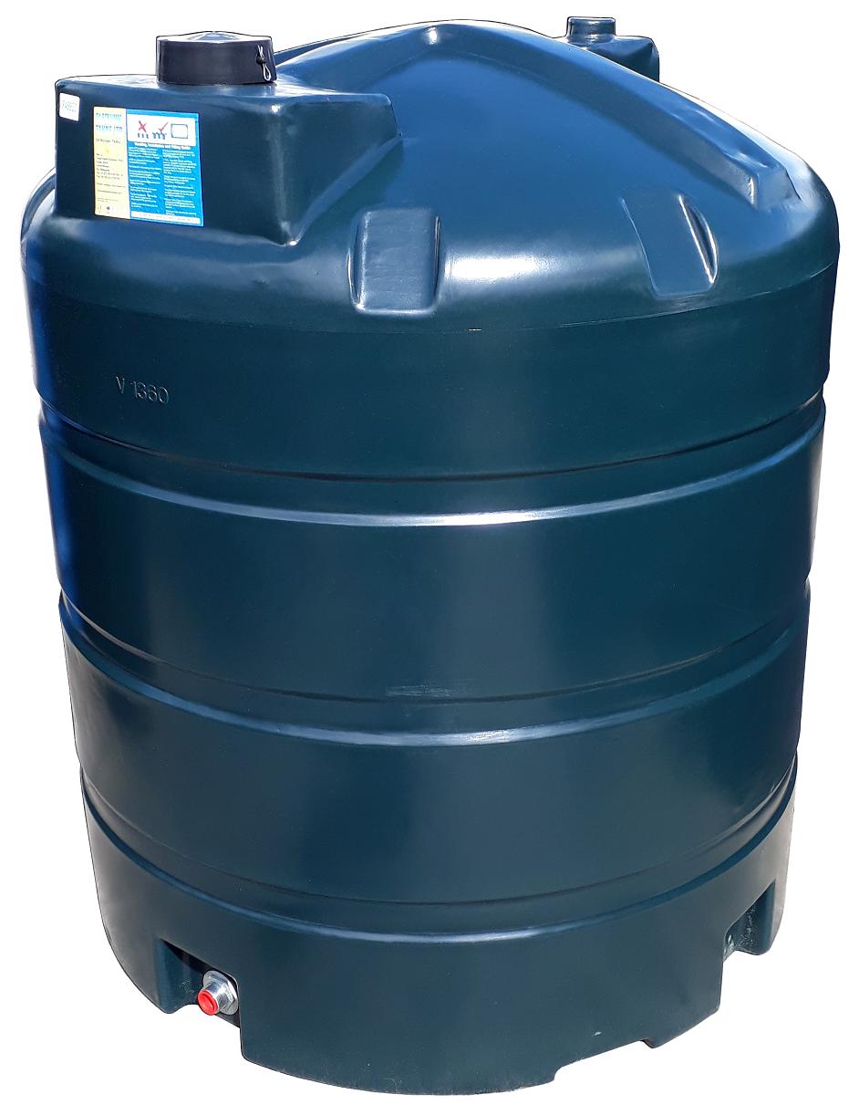 1360 Litre Vertical Oil Tank Image